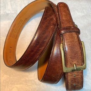Cortina Trafalgar soft glove leather belt Handmade